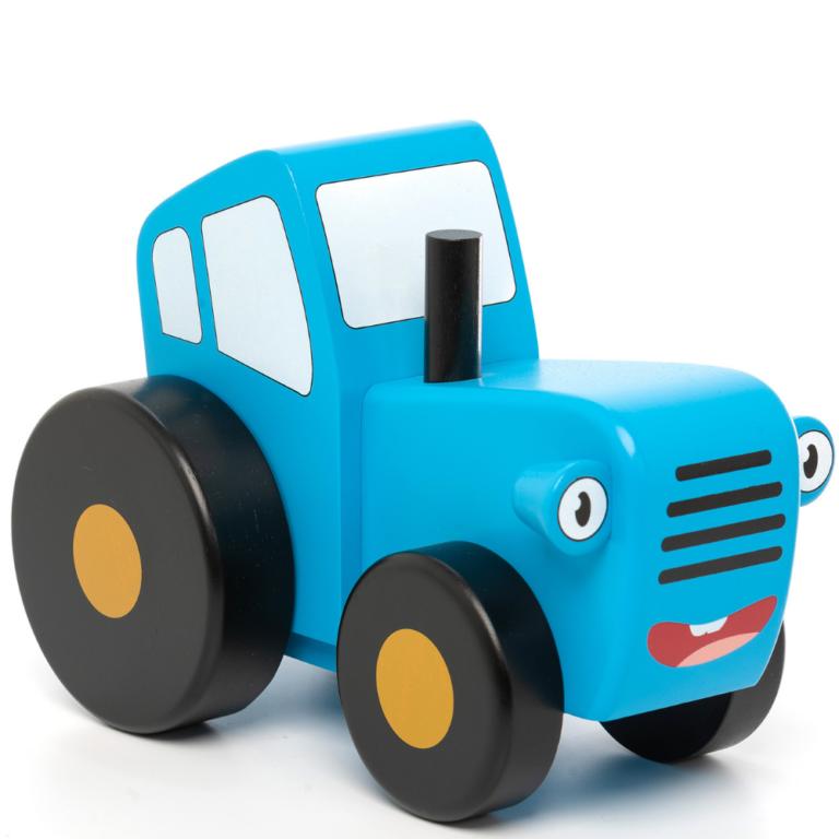 """Игрушка из дерева """"Синий Трактор"""" малая"""