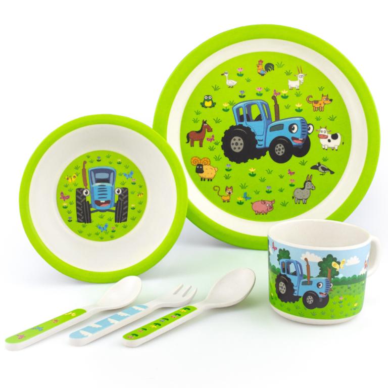 Набор детской эко-посуды «Синий Трактор и его друзья»