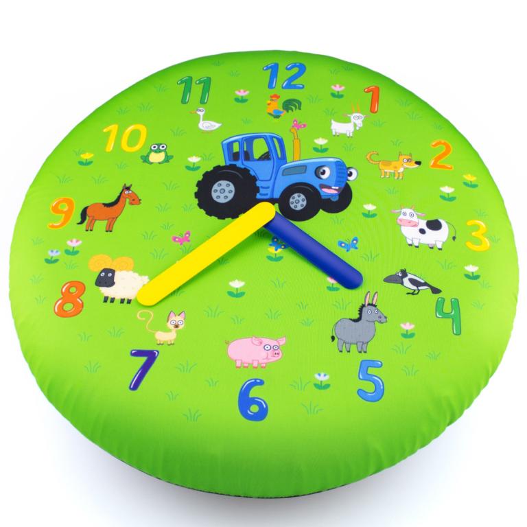 Часы настенные надувные «Синий трактор» большие