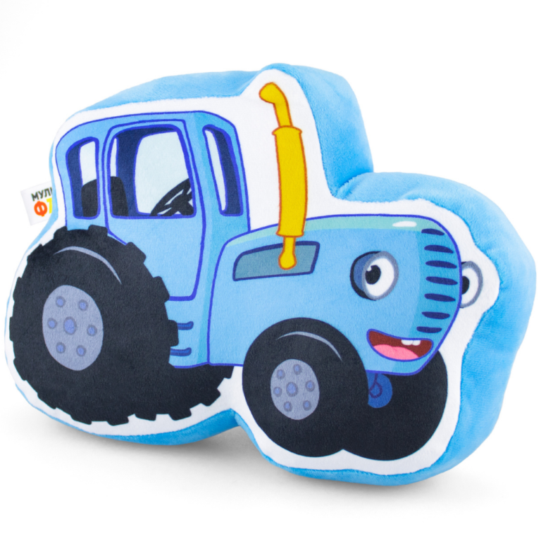 """Плюшевая подушка """"Синий Трактор"""" малая"""